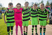 Young FGR fans during the EFL Sky Bet League 2 match between Forest Green Rovers and Grimsby Town FC at the New Lawn, Forest Green, United Kingdom on 5 May 2018. Picture by Shane Healey.