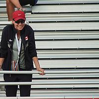 Carla Nicholls coaching her Para Athlete Janz Steinz during the 2016 Rio Olympic Trials in Edmonton, Alberta