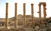 Ruins with the Valley of Tombs in background, Palmyra, Syria Picture by Manuel Cohen