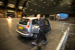 © Licensed to London News Pictures . 08/06/2017 . Manchester , UK . First ward back is Moss Side at 22:07 at the Manchester Central Convention Centre as the count for the constituencies of Blackley and Broughton, Manchester Central, Manchester Gorton, Manchester Withington and Wythenshawe and Sale East, in the General Election, gets underway at the Manchester Central Convention Centre . Photo credit : Joel Goodman/LNP