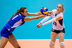 23-08-2017 NED: World Qualifications Greece - Slovenia, Rotterdam<br /> Sloveni&euml; wint met 3-0 / Anthi Vasilantonaki #11 of Greece, Areta Konomi #10 of Greece