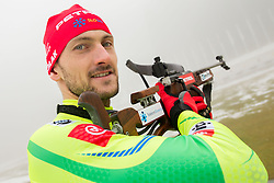 Jakov Fak during media day of Slovenian biathlon team before new season 2013/14 on November 14, 2013 in Rudno polje, Pokljuka, Slovenia. Photo by Vid Ponikvar / Sportida