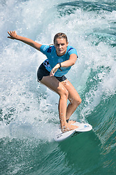August 3, 2018 - Huntington Beach, California, U.S - BRONTE MACAULAY, from Australia, competes in the second round heat of the Vans US Open held at Huntington Beach, California. (Credit Image: © Amy Sanderson via ZUMA Wire)