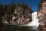 Also known as 'Trick' Falls this is a two-stage waterfall in the southern part of Glacier National Park. On the right side of the fall you can see that there is another waterfall coming out of the wall. In the past I have seen only the lower fall flowing out of the rock. I will head back there in a bit to see if I can get an image where the top flow decreases so you can see more of the bottom flow. Missoula Photographer, Missoula Photographers, Montana Pictures, Montana Photos, Photos of Montana