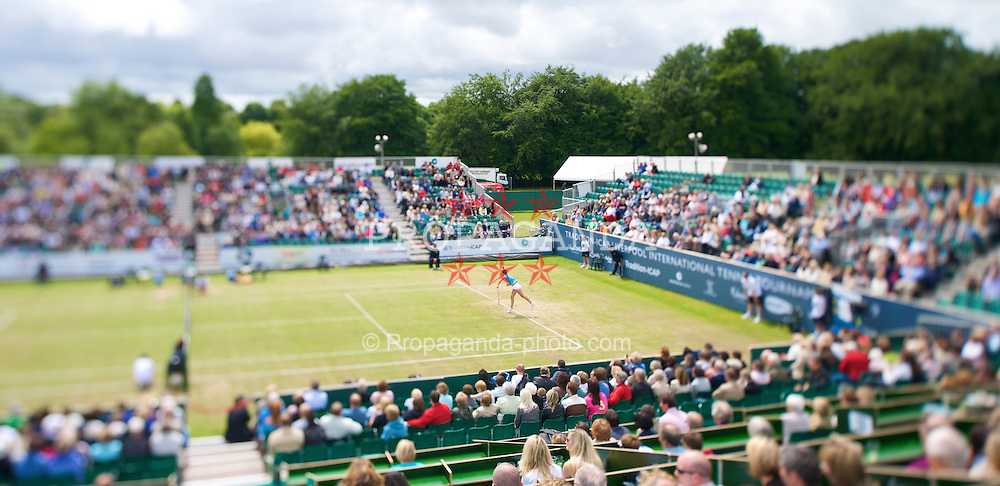 LIVERPOOL, ENGLAND - Saturday, June 20, 2009: The Women's Final during Day Four of the Tradition ICAP Liverpool International Tennis Tournament 2009 at Calderstones Park. (Pic by David Rawcliffe/Propaganda)