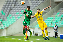 Haris Kadric of NK Olimpija and Matija Rom of NK Domzale during Football match between NK Olimpija Ljubljana and NK Domzale in 33th Round of Prva liga Telekom Slovenije 2018/19, on May 15th, 2019, in Stadium Stozice, Slovenia. Photo by Grega Valancic / Sportida