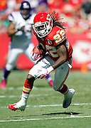 Kansas City Chiefs running back Dexter McCluster (22) catches a second quarter pass for a first down during the NFL week 4 football game against the Minnesota Vikings on Sunday, October 2, 2011 in Kansas City, Missouri. The Chiefs won the game 22-17. ©Paul Anthony Spinelli