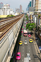 BTS railway service leines, Bangkok, Thailand