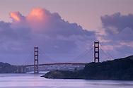 Golden Gate Bridge and clouds over San Francisco Bay, California