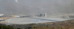 10-7-18. Vandenberg AFB. CA.  SpaceX new landing is ready for Falcon 9 rocket launch Sunday at 7:22 p.m. The will have a SAOCOM 1A, a radar observation satellite for Argentina. The mission will include the first landing attempt by a SpaceX booster at America's West Coast spaceport along with couple of sonic booms will be heard doing reentry.  . Photo by Gene Blevins/LA DailyNews/ZUMAPRESS (Credit Image: © Gene Blevins/ZUMA Wire)