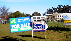 Cape Town-180818 A for sale sign in the farm  in Van Reede Road  road in Stellenbosch. Stellenbosch has seen a rise in land and farm and property for sale after the  Land expropriation without compensation debate  Pictures Ayanda Ndamane/African/news/agency ANA
