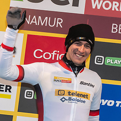 22-12-2019: Cycling: CX Worldcup: Namur: Toon Aerts ist the new GC leader but may have paid a high price by breaking a rib