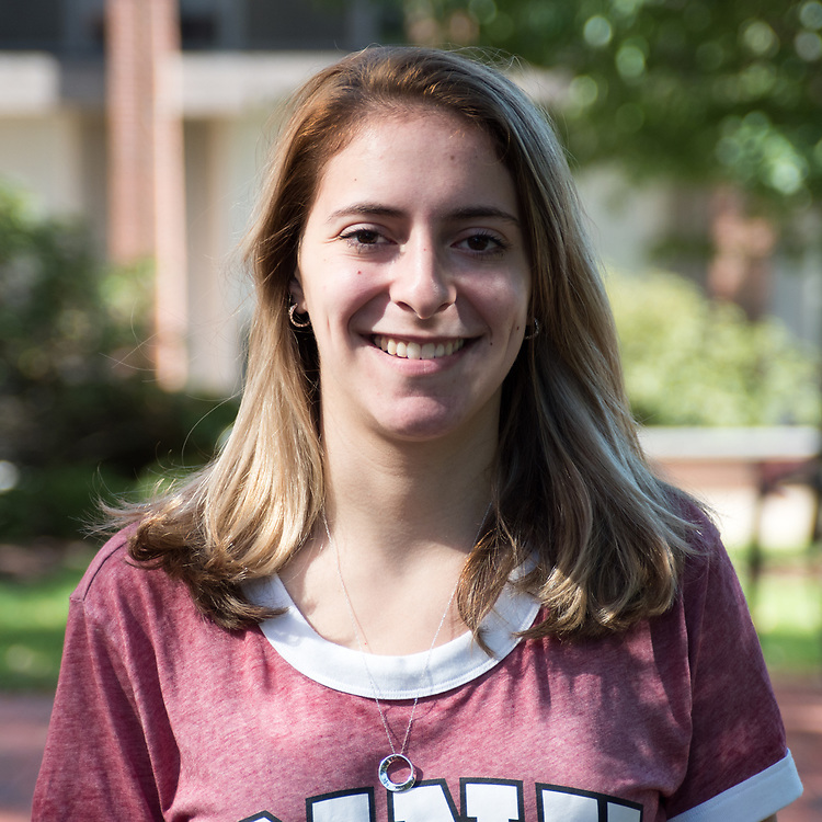 Features Editor Ilana Goldberg poses for a portrait on September 23. ( Seohyun Shim / The Tufts Daily )
