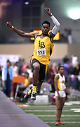Feb 24, 2017; Seattle, WA, USA; Kemonie Briggs of Long Beach State wins the long jump at 25-3 1/4 (7.70m) during the MPSF Indoor Championships at the Dempsey Indoor.