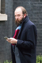 Downing Street, London, February 21st 2017. The Prime Minister's Strategy chief Nick Timothy arrives at 10 Downing Street in London.