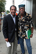 21 July 2011- Harlem, NY- l to r: Max Rodriguez and Author Herb Boyd at the 2011 Harlem Book Fair held along West 135th Street and at The Schomburg Center on July 23, 2011 in the village of Harlem, USA. Photo Credit: Terrence Jennings
