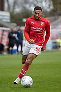 Keshi Anderson of Swindon Town on the ball during the EFL Sky Bet League 2 match between Swindon Town and Forest Green Rovers at the County Ground, Swindon, England on 7 March 2020.