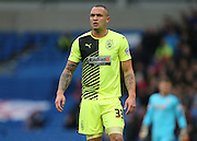 Huddersfield Town defender Joel Lynch (33) during the Sky Bet Championship match between Brighton and Hove Albion and Huddersfield Town at the American Express Community Stadium, Brighton and Hove, England on 23 January 2016.
