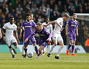 Bolton Wanderers midfielder Josh Vela  is fouled by Leeds United midfielder Eunan O'Kane  during the EFL Sky Bet Championship match between Leeds United and Bolton Wanderers at Elland Road, Leeds, England on 30 March 2018. Picture by Paul Thompson.