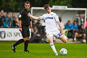 Leeds United Leif Davis (28) takes a shot during the Pre-Season Friendly match between Tadcaster Albion and Leeds United at i2i Stadium, Tadcaster, United Kingdom on 17 July 2019.