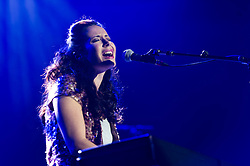 © Licensed to London News Pictures. 03/10/2013. London, UK.   Nerina Pallot performing live at The O2 Arena, supporting headliner Barry Gibb. Nerina Natasha  Pallot is a platinum-selling, Brit- and Ivor Novello Award-nominated British singer and songwriter  Photo credit : Richard Isaac/LNP