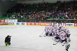 Team picture of Slovenia after ice-hockey match between Slovenia and Austria in Slovenia Euro ice hockey challenge, on November 10, 2012 at Hala Tivoli, Ljubljana, Slovenia. (Photo By Matic Klansek Velej / Sportida)