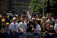 June 18, 2011, Boston, MA - A Bruins fan throws a roll of toilet paper in clebration. Photo by Lathan Goumas.