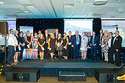 Charities Representatives receives there cheques on stage from Rob Baxter and Tony Rowe OBE - Ryan Hiscott/JMP - 06/08/2018 - RUGBY - Sandy Park - Exeter, England - Exeter Chiefs Season Launch Dinner