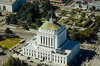 Aerial view of Superior Court of California Oakland California