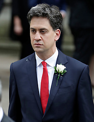 © Licensed to London News Pictures. 20/06/2016. London, UK. Former Labour Party leader ED MILIBAND aarrives at St Margaret's Church, Westminster Abbey to take part in a Service of Prayer and Remembrance to commemorate Jo Cox MP, who was killed in her constituency on June 16, 2016. Photo credit: Peter Macdiarmid/LNP