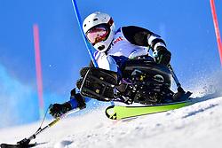 KANO Akira, LW11, JPN, Slalom at the WPAS_2019 Alpine Skiing World Cup, La Molina, Spain