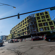 New residential contstruction in Chicago at Armitage & Milwaukee Avenues, Bucktown/Logan Square neighborhoods.