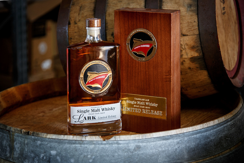 A bottle of a limited edition whisky that was aged on The Spirit of Tasmania boat sits at Lark Distillery in Hobart, Tasmania, August 25, 2015. Gary He/DRAMBOX MEDIA LIBRARY