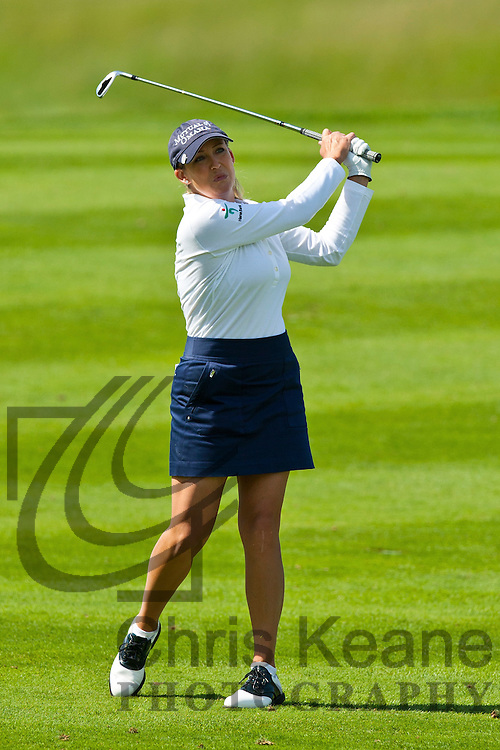17 May 2012: Cristie Kerr watches her second shot on the 15th hole during the first round of match play at the Sybase Match Play Championship at Hamilton Farm Golf Club in Gladstone, New Jersey on May 17, 2012.