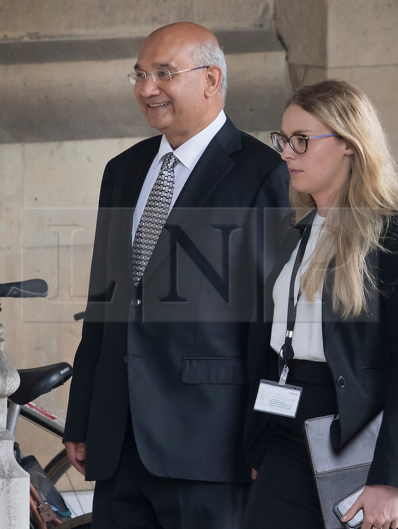 © Licensed to London News Pictures. 05/09/2016. London, UK. A smiling Keith Vaz MP is seen in Parliament on the first day back for MP's after the summer break..  A Sunday newspaper has printed allegations that Mr Vaz met with male prostitutes at his flat.  He has stood down from the chairmanship of the Home Affairs Select Committee. Photo credit: Peter Macdiarmid/LNP
