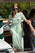 Actress Ellie Bamber arrives in Venice