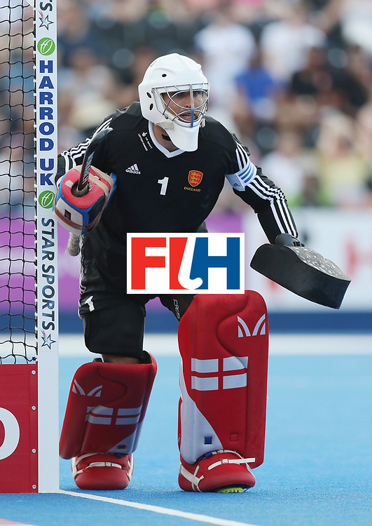 LONDON, ENGLAND - JUNE 18:  George Pinner of England during the Hero Hockey World League Semi-Final match between England and Argentina at Lee Valley Hockey and Tennis Centre on June 18, 2017 in London, England.  (Photo by Alex Morton/Getty Images)