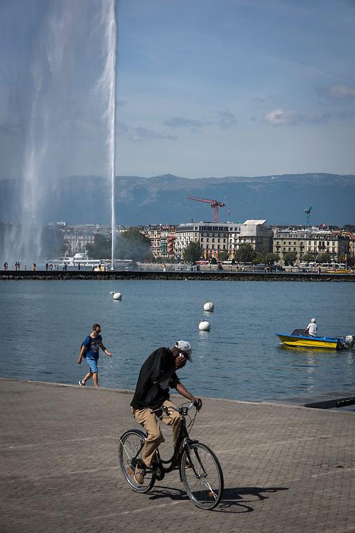 Lake Geneva, Geneva, Switzerland.<br /> Photographer: Steve Forrest