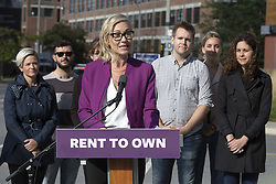 October 4, 2018 - Toronto, ON, Canada - TORONTO, ON - OCTOBER 4  - Mayoral candidate Jennifer Keesmaat makes an announcement on housing in Liberty Village, October 4, 2018. Andrew Francis Wallace/Toronto Star (Credit Image: © Andrew Francis Wallace/The Toronto Star via ZUMA Wire)