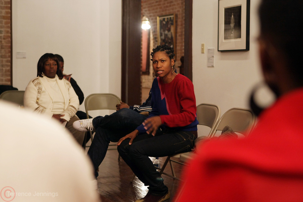 Shantrelle P. Lewis at Artist talk of ' Shoot-Out: Lonely Crusade..An Homage to Jamel Shabazz ' held at The George and Leah McKenna African American Museum of Art on December 12, 2008 in New Orleans, Louisana
