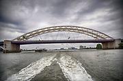 Nederland, the Netherlands, Rotterdam, 29-7-2017van Brienenoordbrug over de nieuwe Maas.Foto: Flip Franssen