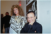 Jocelyne Wildenstein and Azzadine Alaia. Azzadine Alaia installation. 575 Broadway. NY. 22 September 2000. © Copyright Photograph by Dafydd Jones 66 Stockwell Park Rd. London SW9 0DA Tel 020 7733 0108 www.dafjones.com