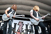 Hell or Highwater performing at the Blossom Music Center in Cleveland, OH on the 2011 Uproar Tour on September 21, 2011