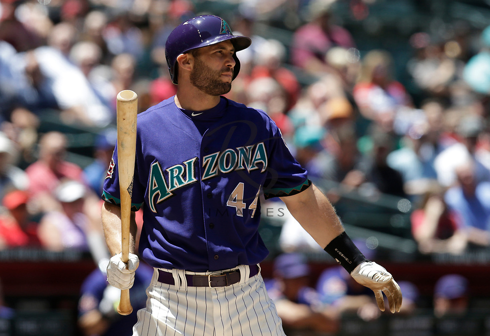 Arizona Diamondbacks first baseman Paul Goldschmidt (44) in the first inning during a baseball game against the Los Angeles Dodgers, Thursday, May 3, 2018, in Phoenix. (AP Photo/Rick Scuteri)