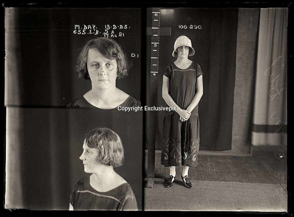 The barber shop slasher, the back-street abortionist and the 'parasite in a skirt': Vintage Australian mugshots reveal some of the country's earliest women criminals<br /> <br /> Haunting images of the past have emerged, showing vintage black and white portraits of Australian women.<br /> But these are no ordinary women. These are the not-so-innocent faces of convicted criminals who were put behind bars from the 1880s to 1930s.<br /> Among them include the infamous razor gangster and prominent madam of the times - Matilda 'Tilly' Devine.<br /> Others include backyard abortionists, drug dealers and those convicted of bigamy, drunkenness and theft.<br /> most of them were sent to the State Reformatory for Women, Long Bay - south of Sydney - which is now known as&nbsp;Long Bay Correctional Complex.<br /> <br /> <br /> Photo shows:  Marjorie Day alias Elma Walton, criminal record number 655LB, 13 February 1925. State Reformatory for Women, Long Bay.<br /> <br /> Marjorie Day convinced a shopkeeper to let her take two dresses home to show her mother. She promised to return promptly but instead sold the clothes at a second-hand clothing shop. A repeat offender, Day was sentenced to six months prison. Aged: 20. DOB: 11 January 1905.<br /> &copy;NSW Police Gazette/Exclusivepix