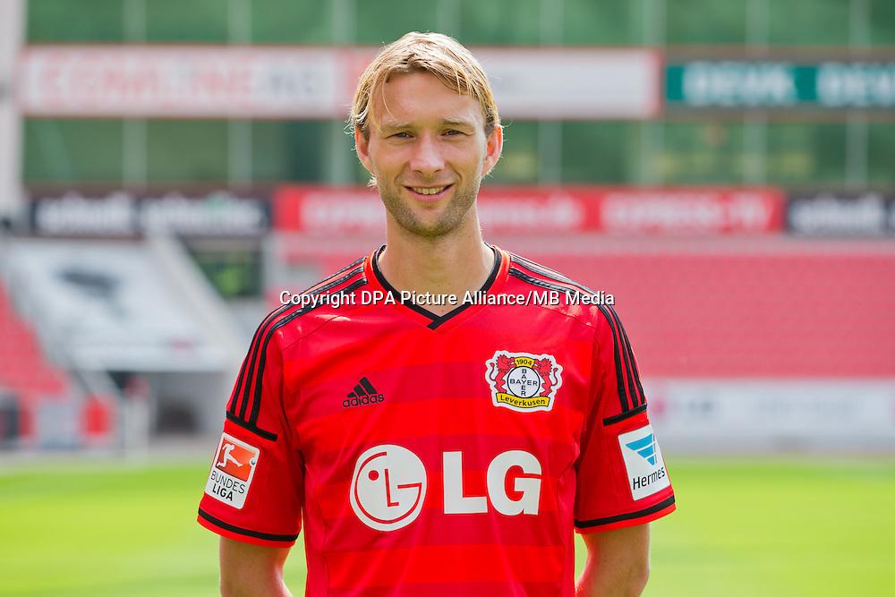 German Soccer Bundesliga - Photocall Bayer 04 Leverkusen on August 4th 2014: Simon Rolfes.