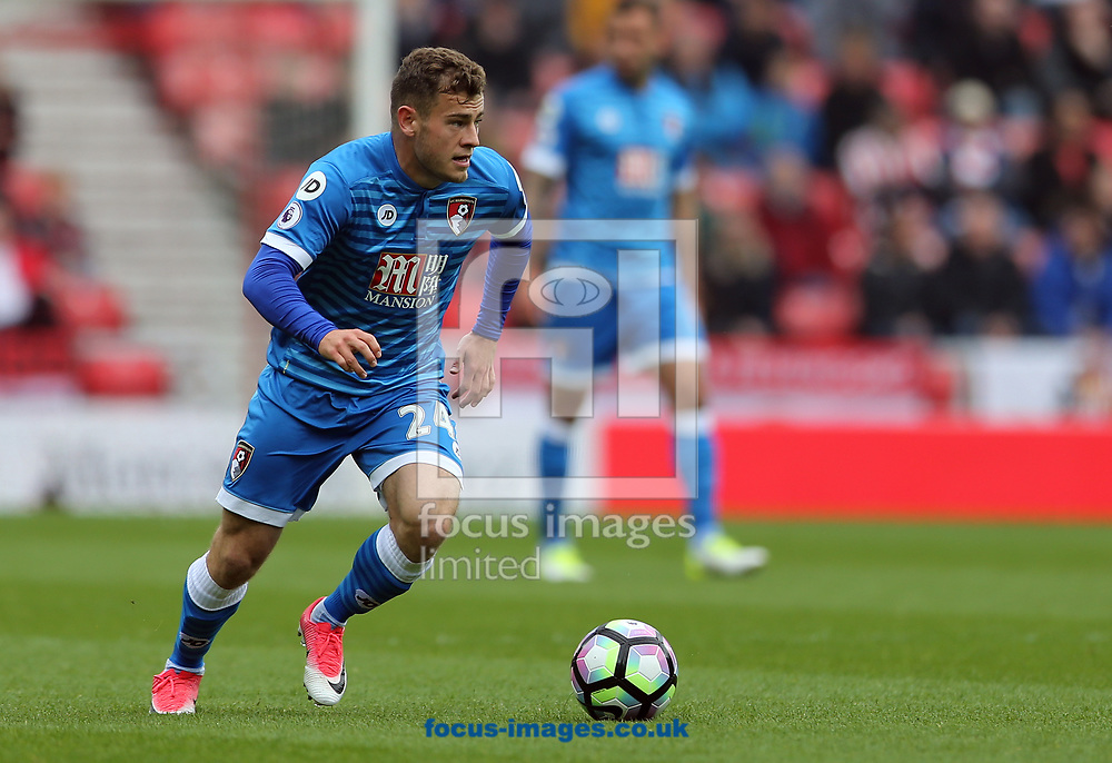 Ryan Fraser of Bournemouth during the Premier League match at the Stadium Of Light, Sunderland<br /> Picture by Simon Moore/Focus Images Ltd 07807 671782<br /> 29/04/2017