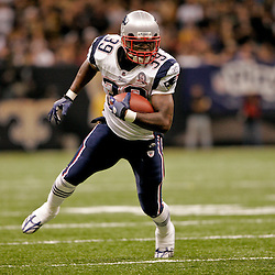 2009 November 30: New England Patriots running back Laurence Maroney (39) runs with the ball during a 38-17 win by the New Orleans Saints over the New England Patriots at the Louisiana Superdome in New Orleans, Louisiana.