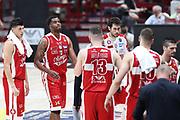 Delusione Milano, EA7 Emporio Armani Milano vs Energia Dolomiti Trentino LBA Serie A Playoff Semifinale gara 5 stagione 2016/2017 Mediolanum Forum Assago, Milano 2 giugno 2017