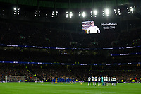 Football - 2019 / 2020 Premier League - Tottenham Hotspur vs. Chelsea<br /> <br /> A minute's applause for former Tottenham Hotspur player and World Cup winner Martin Peters, at The Tottenham Hotspur Stadium.<br /> <br /> COLORSPORT/ASHLEY WESTERN